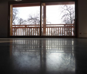 The reflective quality of polished concrete